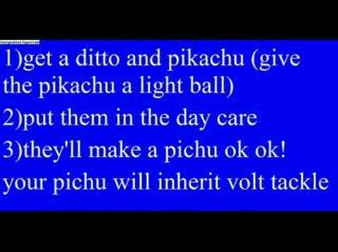 pichu or pikachu with volt tackle