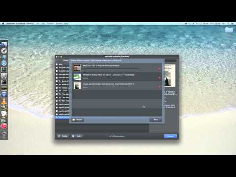 Howto split audiobooks from iTunes Store by duration