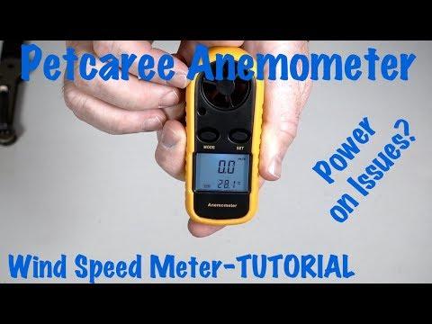 Petcaree Anemometer Sokos Digital Wind Speed Air Flow Meter-Power on Issues?
