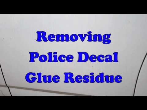How to remove police decal glue residue