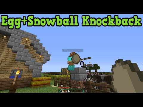 Minecraft Xbox 360 + PS3 Snow Balls and Fishing Rod Knock back Explained