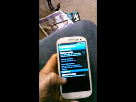 Samsung galaxy S3 Factory reset