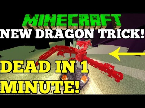 NEW TRICK! Minecraft Fastest Easiest Way to kill The Ender Dragon Simple Better Together Tutorial