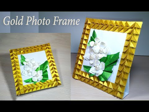 DIY photo frame from paper. Easy STANDING picture frame