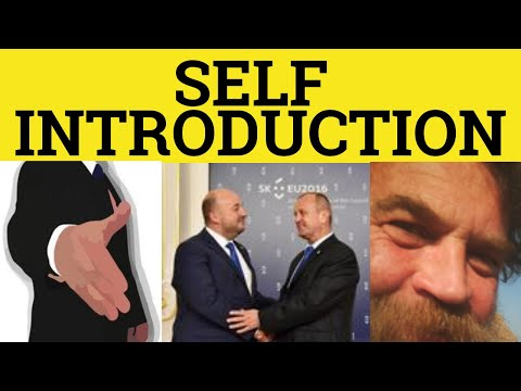 Self Introduction - Speech - Introducing Yourself  - ESL British English Pronunciation
