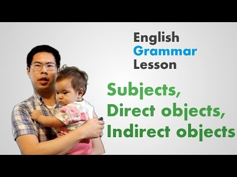 Subjects, Direct Objects, Indirect Objects - Learn English Grammar Lesson for Beginners