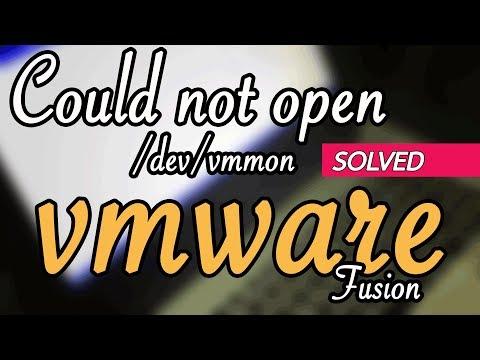 [SOLVED] VMware could not open /dev/vmmon broken pipe