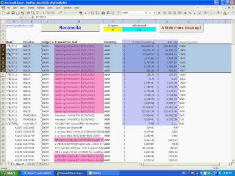 Auto GL reconciliation  using Excel VBA-Pt-01