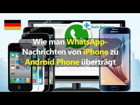 Wie man WhatsApp-Nachrichten von iPhone zu Android Phone überträgt