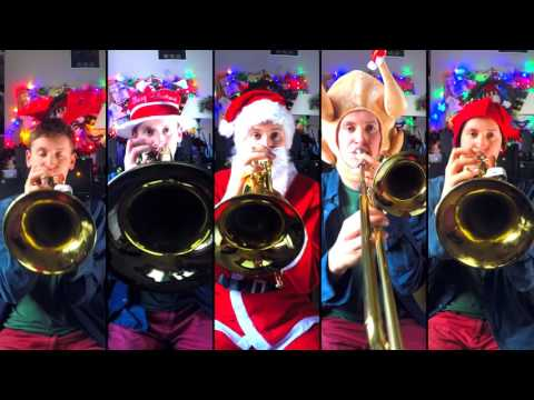 White Christmas for Brass Quintet with sheet music