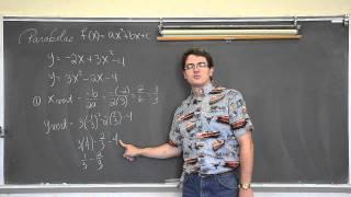 Graphing Parabolas W Vertex Intercepts
