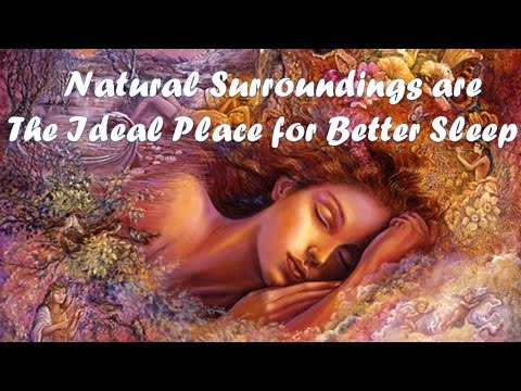 Natural surroundings are the ideal place for  Better Sleep