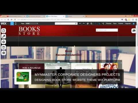DESIGNING BOOK STORE WEBSITE THEME WIX PLATFORM