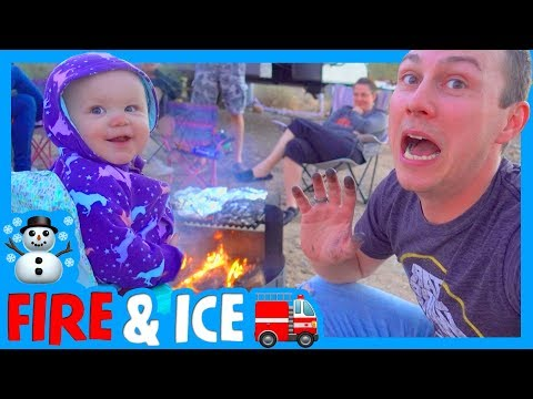 🔥 DRIVING AN RV THROUGH A SNOWSTORM ❄️ Campfire Cookout with Clintus.TV at White Tank Mountains ⛰