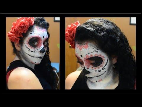 Maquillaje de catrina 💀 pidiendo halloween 🎃 sugar skull makeup