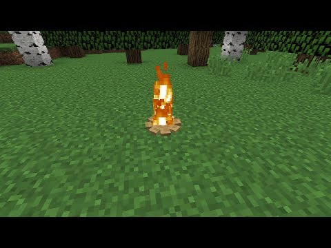 how to make a minecraft camp fire