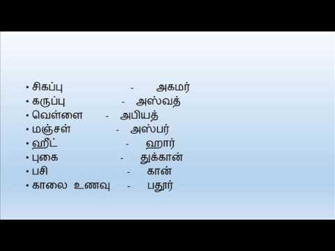 Learning Arabic through Tamil - Introduction   அராபிக் மொழியிலிருந்து தமிழ் வார்த்தைகள்