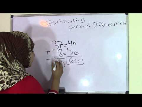 5th Grade Math: Estimating Sums and Differences