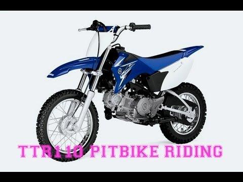 Backyard 110 Pitbike Riding (Mini Stack at End)