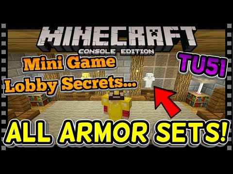 MINECRAFT TU51 | ALL ARMOR - MINI GAME LOBBY SECRETS (Minecraft Console PS4 / Xbox)