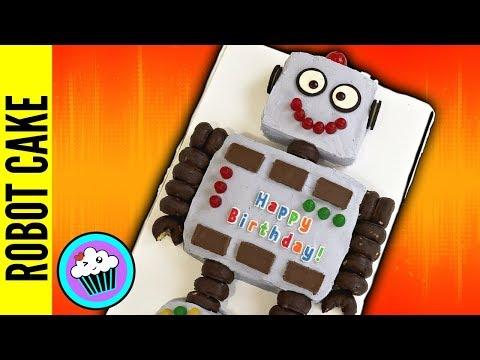 SUPER EASY Robot Birthday CAKE | Pinch of Luck