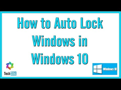 How to Auto Lock Screen in Windows 10