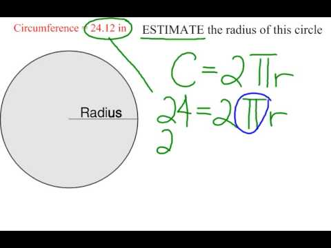 How to estimate radius given circumference