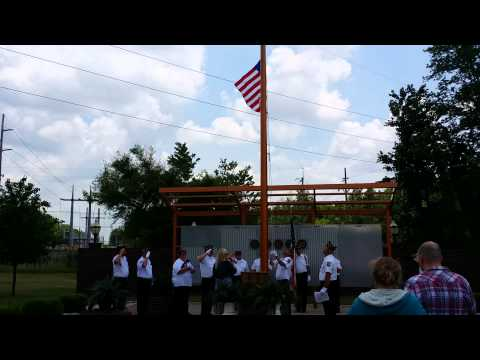 Memorial Day flag burning ceremony