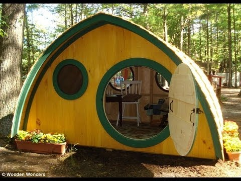 Build your own 'Hobbit hole' for £1,000: Couple's elaborate Lord of the Rings-style cottages