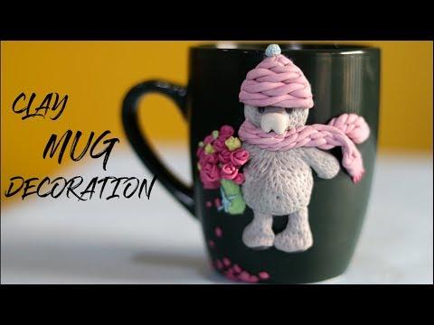 DIY EASY MUG DECORATION   CLAY MUG DECORATION IDEAS  