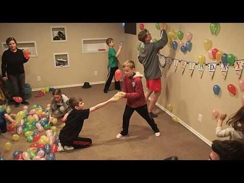 Shane's 5th Birthday - Balloon Fun!
