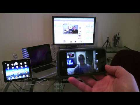 IPhone Facetime video call demo