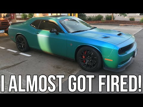 I Took My Boss For A Ride In My Hellcat 🤣!! I Almost Got Fired 🤦🏾♂️