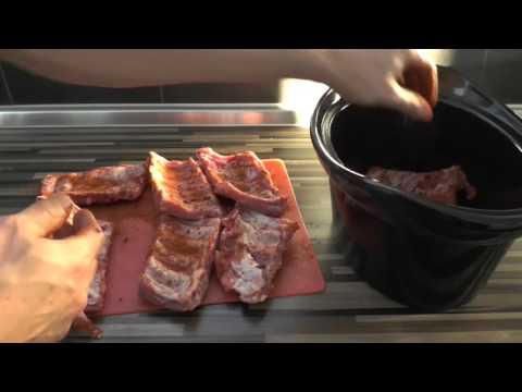 Spareribs zubereiten im Slow Cooker