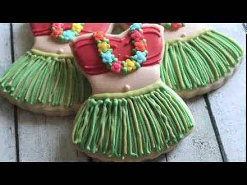 Hula Girl Cookie