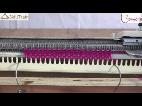 Learn to use the hand knitting machine