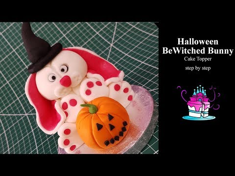 Halloween Bewitched Bunny Cake Topper Tutorial