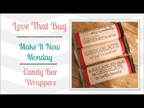 Cricut Explore |MIN| Candy Bar Wrappers