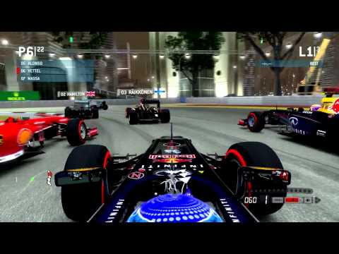 F1 2013 GAME | VETTEL IN SINGAPORE | PC ULTRA SETTINGS HD