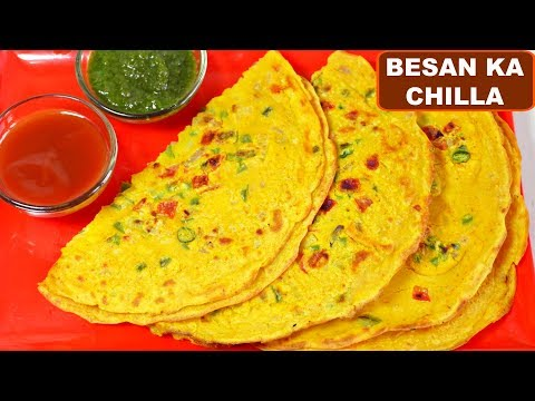 Besan Ka Chilla Recipe (बेसन का चिल्ला) | Vegetarian Omelette Breakfast Recipe | CookWithNisha