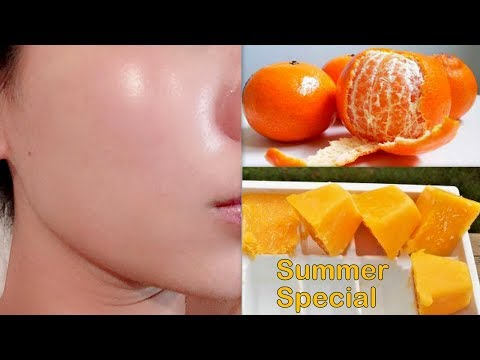Orange Facial Ice Cubes For Skin Whitening,Dark Spots, Blemish, Suntan,Pimples and Acne