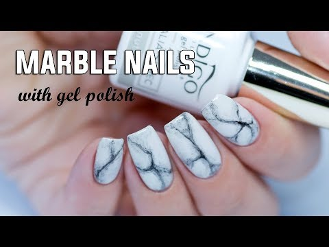 REALISTIC MARBLE NAILS - Easy Step by Step with Gel Polish