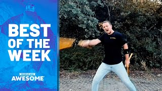 Precision Target Card Throwing, Circus Tricks, Hockey Sticks & More! | Best of the Week