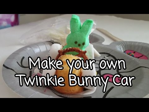 Twinkie Bunny Car - Easter Food - Desserts your kids can make - Easy Kid project -Kid in the kitchen