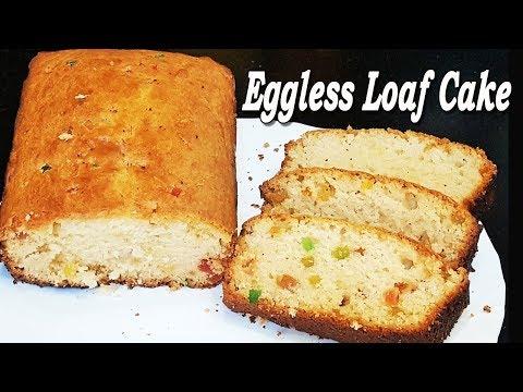 Eggless Loaf Cake   No Egg no Butter   Tea Time Snack   MadhurasRecipe