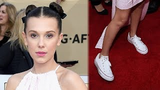 Millie Bobby Brown ROCKS Converse On 2018 SAG Awards Red Carpet & Here