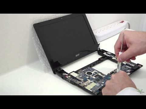 Acer Aspire One D255 Netbook Disassemble, Repair and Upgrade