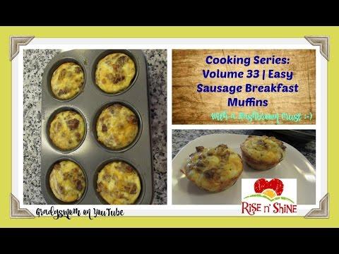 Cooking Series Volume 33   Easy Egg Sausage Breakfast Muffins
