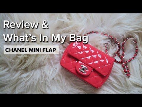 f0b9ea39b889 Chanel Mini Flap Patent Coral Review