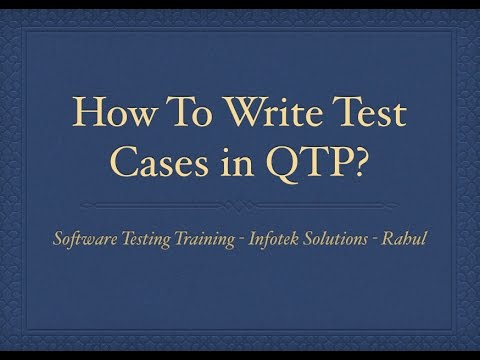 QTP Test Case, Record Run Settings in QTP - Software Testing Training - Rahul
